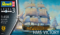 Revell - Germany HMS Victory Admiral Nelson Flagship 1:450 45parts Lvl 3, LIST PRICE $14.95