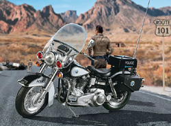 Revell - Germany US Highway Patrol  Police Motorbike 1:8, LIST PRICE $99.95