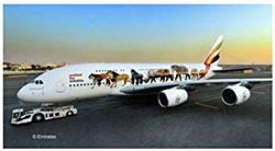 """Revell - Germany 1:144 Airbus A380-800 Emirates """"Wild L , DUE 7/30/2019, LIST PRICE $35.34"""