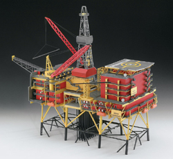 Revell - Germany Oil Rig North Cormorant 1:200, LIST PRICE $169.95