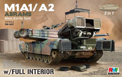 Ryefield Models M1A1/A2 Abrams W/interior 1:35, LIST PRICE $89.99