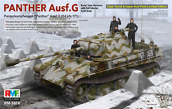 Ryefield Models Panther Ausf.G W/full Int 1:35, LIST PRICE $103.99