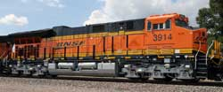 Intermountain HO BNSF - New Image ET44C4 #3849, DUE 10/1/2016, LIST PRICE $199.95
