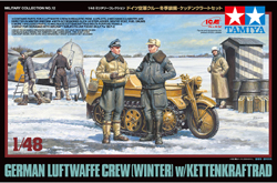 Tamiya 1/48 German Luftwaffe Crew,Winter w/Kettenkraftrad, DUE 8/20/2018, LIST PRICE $27