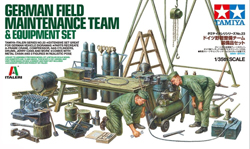 Tamiya 1/35 German Field Maintenance Team w/Equipment Set, LIST PRICE $24
