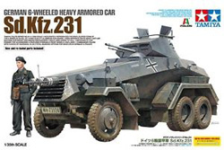 Tamiya 1:35 German 6-Wheeled Sd.Kfz.231 Heavy Armored Car, LIST PRICE $49