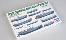 Tamiya 1/350 WWII Japanese Navy Utility Boat Set, LIST PRICE $30