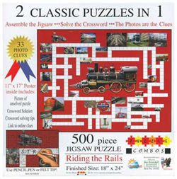 Train Enthusiast  Combo Puzzle Riding the Rail, DUE 10/16/2019, LIST PRICE $14