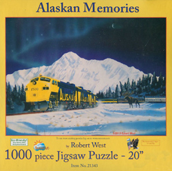 Train Enthusiast  Alaskan Memories 1000 pc, LIST PRICE $16