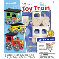 Train Enthusiast Paint Your Own Toy Train, DUE TBA, LIST PRICE $15.99