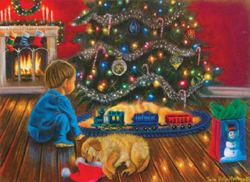 Train Enthusiast Under the Tree Train Puzzle 1000 Pieces, LIST PRICE $16.5