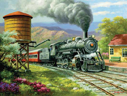 Train Enthusiast No. 90's Daily Run Puzzle 500 Pieces, LIST PRICE $12.5