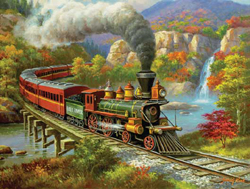 Train Enthusiast Fall River Ltd. Puzzle 500 Pieces, LIST PRICE $12.5