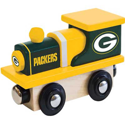 Train Enthusiast  Football Team Wooden Engine Green Bay Packers, DUE 9/19/2019, LIST PRICE $11.99