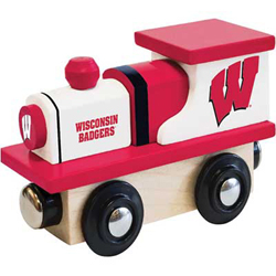 Train Enthusiast  Football Team Wooden Engine Wisconsin Badgers, DUE 9/19/2019, LIST PRICE $11.99