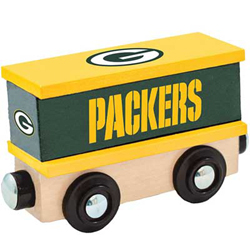 Train Enthusiast  Football Team Wooden Boxcar Green Bay Packers, DUE 9/19/2019, LIST PRICE $11.99