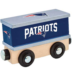 Train Enthusiast  Football Team Wooden Boxcar New England Patriots, DUE 9/19/2019, LIST PRICE $11.99