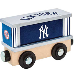 Train Enthusiast  Football Team Wooden Boxcar New York Yankees, DUE 9/19/2019, LIST PRICE $11.99