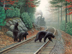Train Enthusiast Bear Tracks Puzzle 500 Pieces, LIST PRICE $12.5