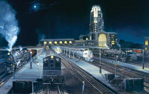 Train Enthusiast Midnight Buffalo Puzzle 550 Pieces, LIST PRICE $12