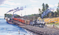 Train Enthusiast HO Crossing Columbia Train Puzzle 550 Pieces, LIST PRICE $12.5