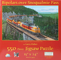 Train Enthusiast A Bipolars Over Snoqualmie Pass Puzzle 550 Pieces, LIST PRICE $12