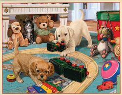 Train Enthusiast  Puppies Playtime Puzzle 300p, DUE 10/16/2019, LIST PRICE $12.5