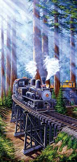 Train Enthusiast Redwood Sidewinder Puzzle 1000 Pieces, LIST PRICE $16.5