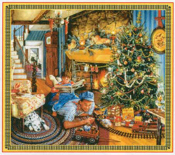 Train Enthusiast Christmas Train Puzzle 25 Large Pieces, DUE 11/1/9999, LIST PRICE $7.5