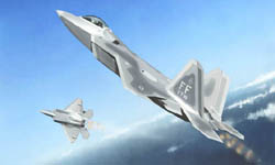 Trumpeter 1/144 F-22A Raptor Fighter, LIST PRICE $10