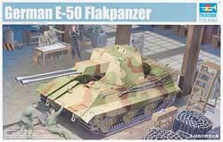 Trumpeter 1/35 German E-50 Flakpanzer Tank, LIST PRICE $42.95