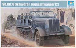 Trumpeter 1/35 Germ SdKfz 8 12-Ton Heavy Halftrack, LIST PRICE $64.95