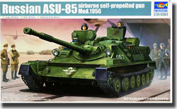 Trumpeter 1/35 Russian ASU-85 Airborne Self-Prop 1956 Tank, LIST PRICE $43.99