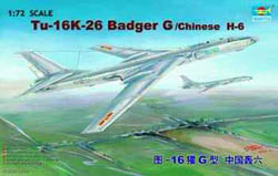 Trumpeter TU-16K26 BADGER CHIN 1:72     , LIST PRICE $46.95
