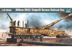 Trumpeter 1/35 280MM Leopold Railroad Gun, LIST PRICE $149.95