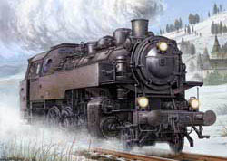 Trumpeter 1/35 German WWII BR86 Armored Steam Locomotive, LIST PRICE $142.95