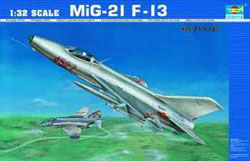 Trumpeter 1/32 Mig 21 F13 Fighter, 2nd Gen, LIST PRICE $99.95