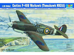 Trumpeter 1/32 Curtiss P40B Warhauk MK IIa, LIST PRICE $53.95