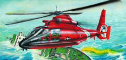 Trumpeter HH-65A DOLPHIN USCG COPTER :48, LIST PRICE $27.25