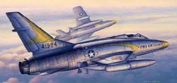 Trumpeter 1/48 F-100C Super Sabre Fighter, LIST PRICE $52.95