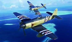 Trumpeter 1/48 Hawker Sea Fury FB.11 Fig, LIST PRICE $49.95