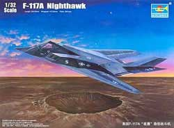 Trumpeter 1/32 F-117A Nighthawk Aircraft, New Tooling, LIST PRICE $164.95