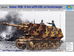 Trumpeter 1/35 Germ 39(H) Tank w/105mm, LIST PRICE $24.95