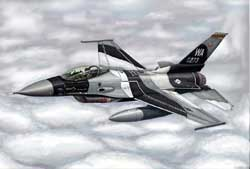Trumpeter 1/144 F-16A/C Fighting Falcon Block 15/30/32 Aircr, LIST PRICE $17.95