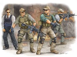 Trumpeter 1/35 PMC VIP Protection Team. Iraq (4), LIST PRICE $14.75