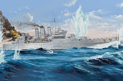 Trumpeter 1:350 HMS CORNWALL CRUISER , LIST PRICE $116.95