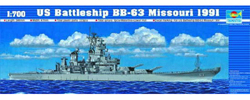 Trumpeter 1/700 USS Missouri BB63 1991, LIST PRICE $25.95