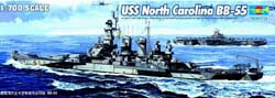 Trumpeter 1/700 USS N Carolina BB-55, LIST PRICE $27.95