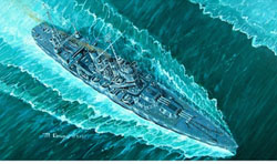 Trumpeter 1/700 USS Vincennes CA-44, LIST PRICE $31.95