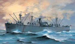 Trumpeter 1/700 SS Jeremiah O'Brien Liberty Ship, New Tool, LIST PRICE $20.95